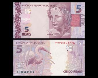 Brésil, P-253d, 5 Reais, 2010