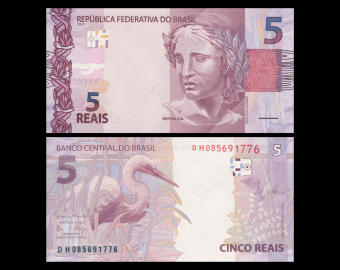 Brésil, P-253d, 5 reals, 2010