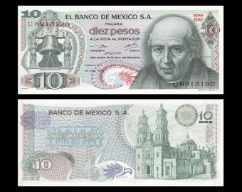 Mexico, P-063h3, 10 pesos, 1975