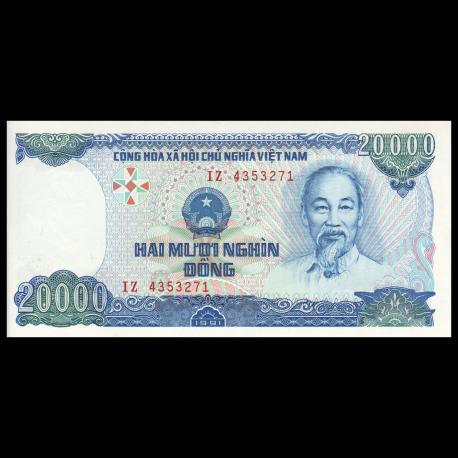 VIETNAM 20,000 20000 DONG 1991 P 110 UNC