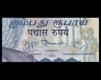 Mauritius, P-65, 50 roupies, 2013