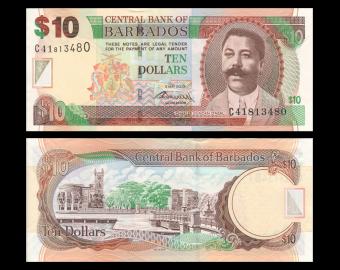 Barbados, P-68c, 10 dollars, 2012