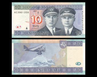 Lithuania, P-68, 10 litu, 2007