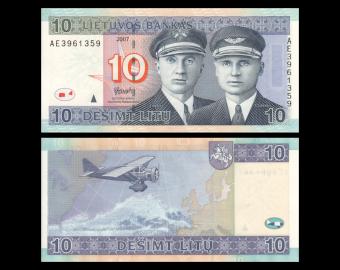 Lituanie, P-68, 10 litu, 2007