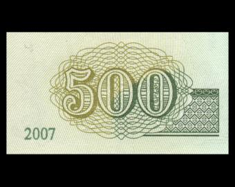 Mongolie, P-66b, 500 tugrik, 2007, presque neuf / a-unc