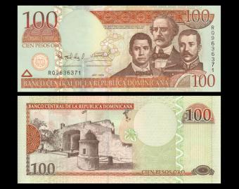Dominican Rep, P-177a, 100 pesos, 2006