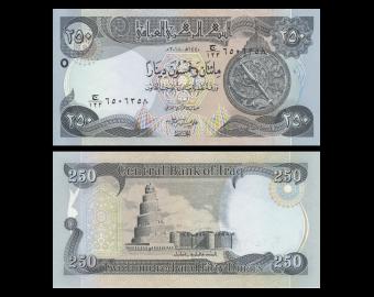 Iraq, P-097b, 250 dinars, 2018