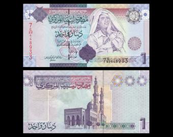 Libya, P-71, 1 dinar, 2009