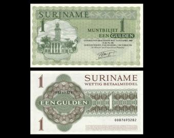 Suriname, Muntbiljet, P-116i, 1 gulden, 1986