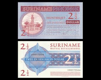 Suriname, Muntbiljet, P-156, 2.5 dollar, 2004