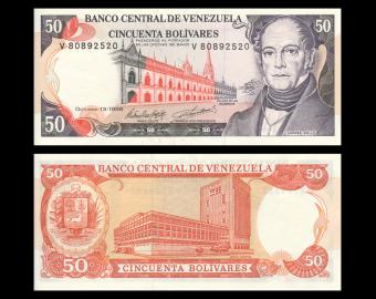 Venezuela, P-065g, 50 bolivares, 1998