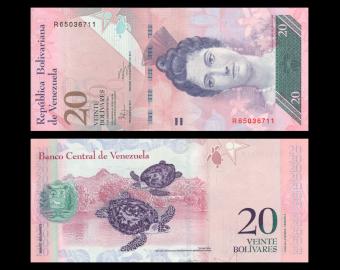 Venezuela, P-091e, 20 bolivares, 2011