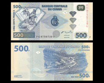 Congo, P-096A, 500 francs, 2002