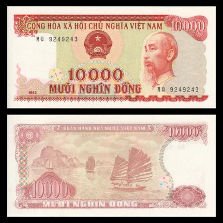 Vietnam, P-115, 10000 dông, 1993