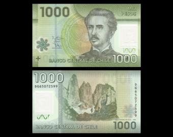 Chile, P-161g, 1000 pesos, 2016, Polymer