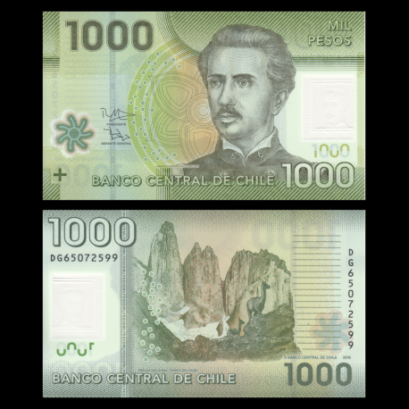 Chili, P-161g, 1000 pesos, 2016, Polymere