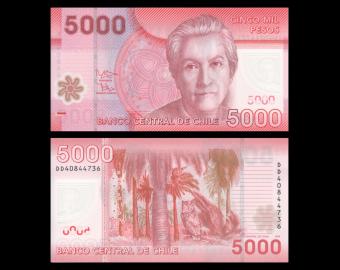 Chile, P-163e, 5000 pesos, 2014, Polymer