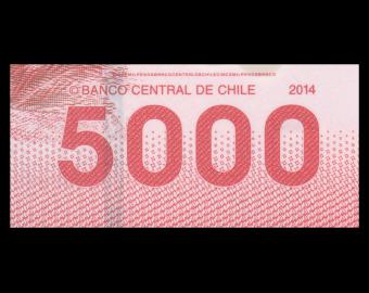 Chili, P-163e, 5000 pesos, 2014, Polymère