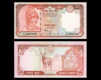 Nepal, P-55, 20 roupies, 2006