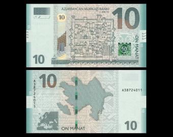 Azerbaidjan, P-new, 10 manat, 2018