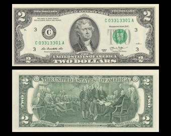 USA, P-538c, 2 dollars, Pennsylvania, 2013