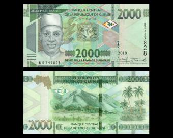 Guinea, P-new, 2000 francs, 2018