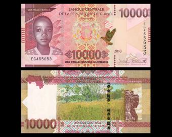 Guinée, P-new, 10000 francs, 2018