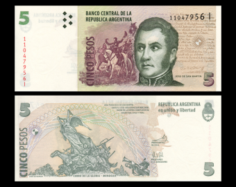 Argentina, P-353a3, 5 pesos, 2003