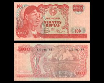 Indonésie, P-108, 100 rupiah, 1968