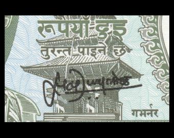 Nepal, P-29b3, 2 roupies, 1995-2000