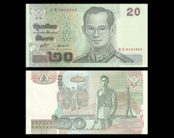 Thailande, P-109h, 20 baht, 2003