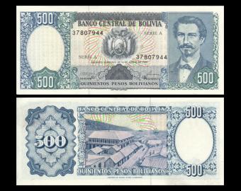 Bolivia, P-165b, 500 pesos bolivianos, D1981, Presque Neuf / A-UNC
