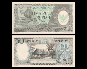 Indonesia, P-096, 50 rupiah, 1964