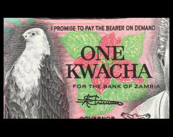 Zambia, P-23b, 1 kwacha, 1980