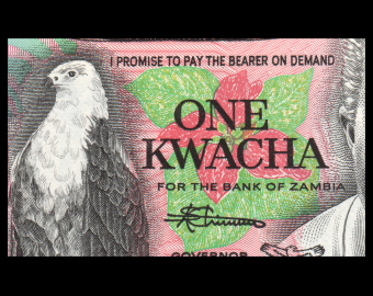 Zambie, P-23b, 1 kwacha, 1980