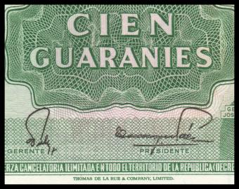 Paraguay, P-205d, 100 guaranies, 1982