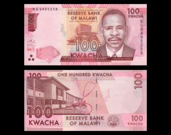 Malawi, P-65c, 100 kwacha, 2017