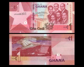 Ghana, P-New, 1 cedi, 2019