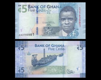 Ghana, P-44, 5 cedis, 2017