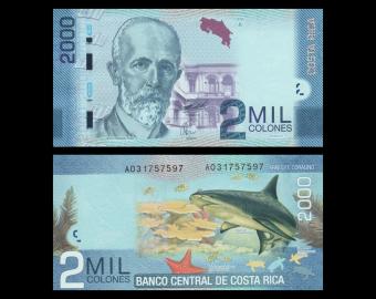 Costa Rica, P-275a, 2000 colones, 2009