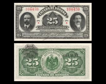 Mexico, P-S1069, 25 centavos, 1915