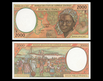 Central African Republic, P-303Ff, 2000 francs, 1999