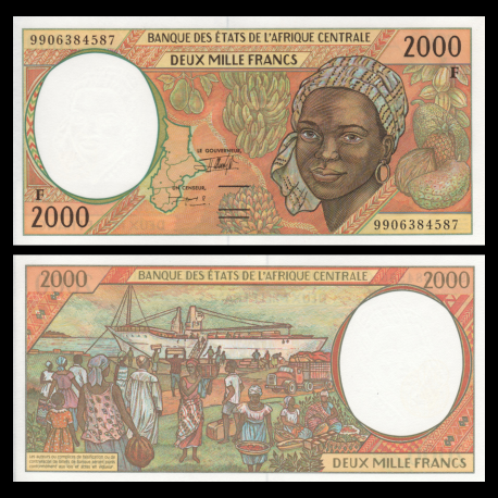 CENTRAL AFRICAN REPUBLIC 1000 1,000 FRANCS 1999 UNC P-302Ff
