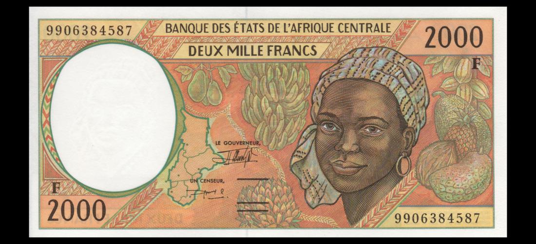 2000 FRANCS 1999 CENTRAL AFRICAN REPUBLIC P-303Ff UNC