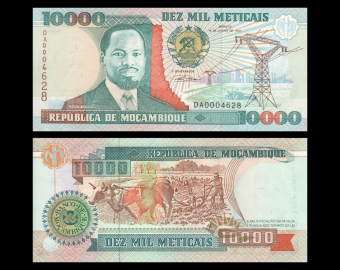 Mozambique, P-137, 10000 meticais, 1991
