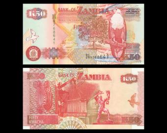Zambie, P-37d2, 50 kwacha, 2003