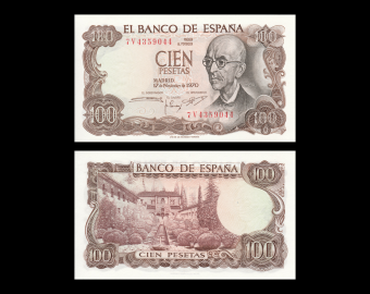 Spain, P-152a, 100 pesetas, 1970