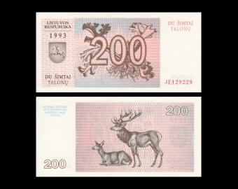 Lithuania, P-45, 200 talonas, 1993