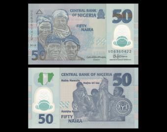 Nigeria, P-40h, 50 naira, 2018, Polymer