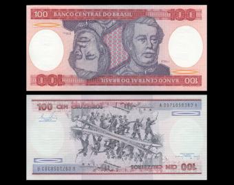 Brazil, P-198a, 100 cruzeiros, 1981